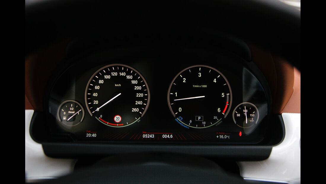BMW 640d Gran Coupé, Tacho, Rundinstrumente