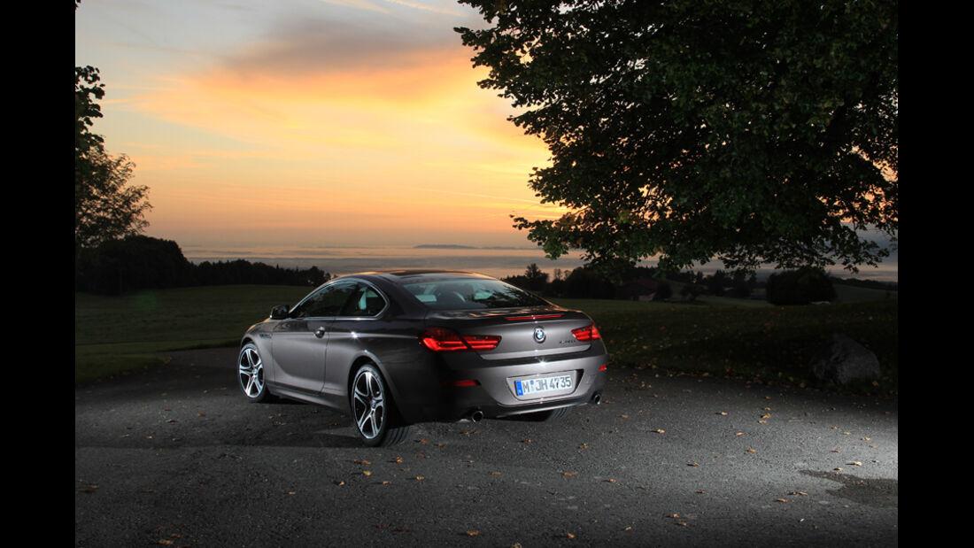 BMW 640i Coupe, Heck, Abendlicht