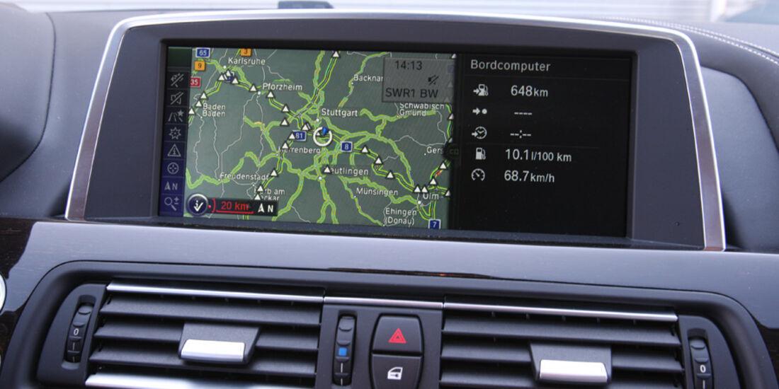 BMW 640i Coupe, Navi, Bildschirm