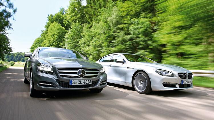 Bmw 640i Gran Coupé Und Mercedes Cls Im Test Reiz Des Unsinnigen Auto Motor Und Sport
