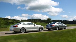 BMW 640i Gran Coupé, Mercedes CLS 350, Seitenansicht