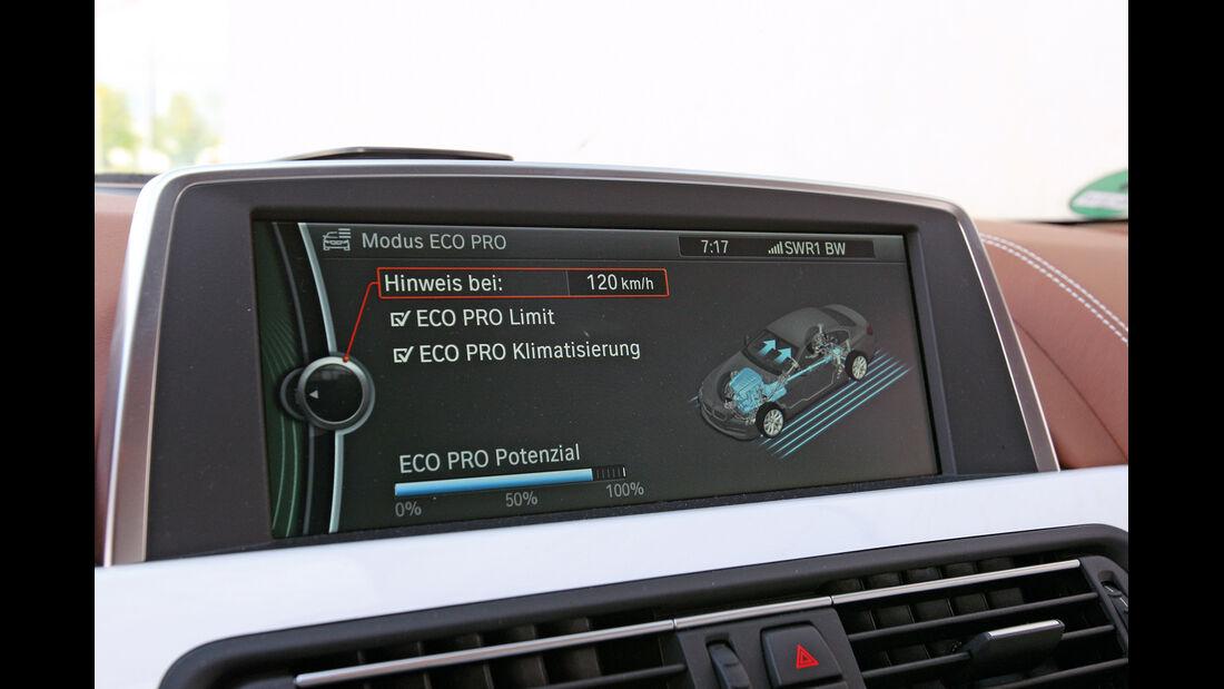 BMW 640i Gran Coupé, Navi, Display
