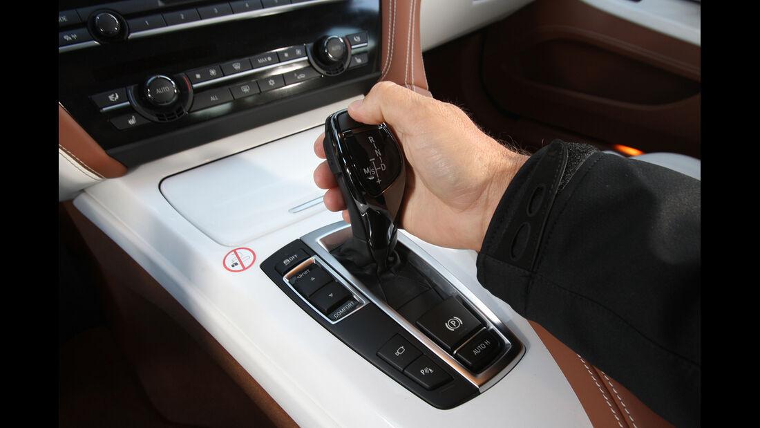 BMW 640i Gran Coupé, Schaltknauf, Schalthebel