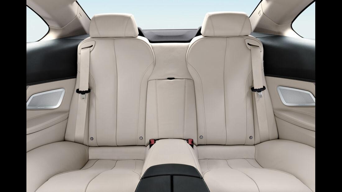 BMW 640i, Rücksitze