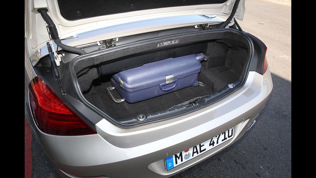 BMW 650i Cabrio, Kofferraum