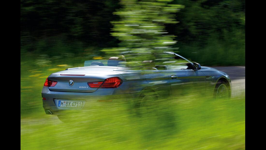 BMW 650i Cabrio, Seitenansicht, Fahrt