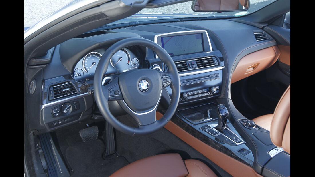 BMW 650i Cabriolet, Fahrersitz, Cockpit