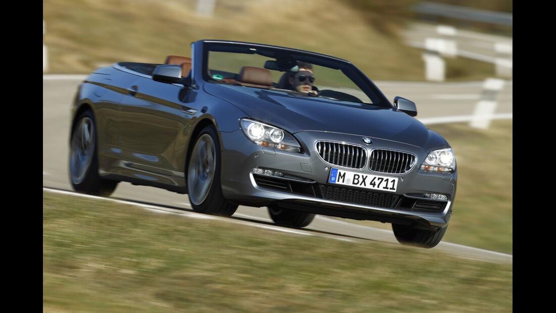 BMW 650i Cabriolet, Frontansicht, Fahrt