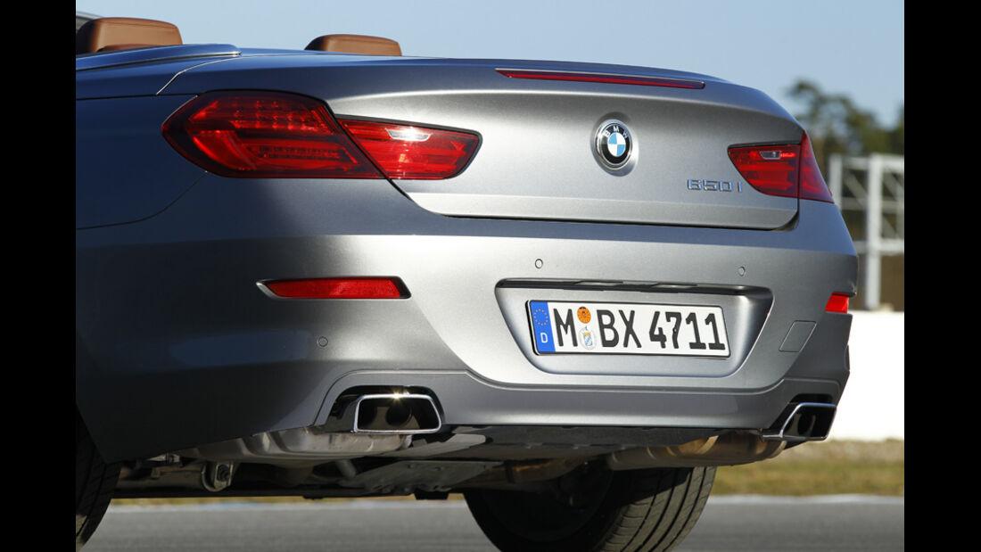 BMW 650i Cabriolet, Heck