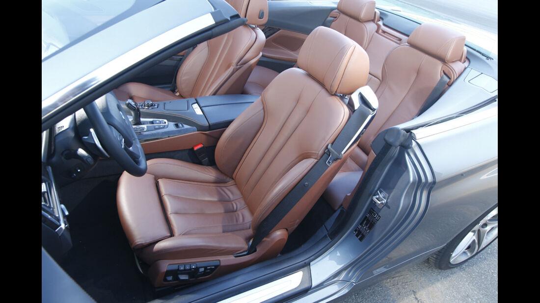 BMW 650i Cabriolet, Innenraum, Sitze, Ledersitze