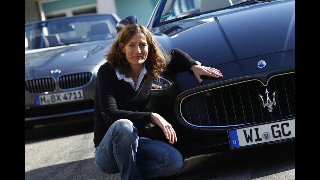 BMW 650i Cabriolet, Maserati GranCabrio, Anja Wassertheurer