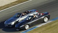 BMW 650i Cabriolet, Maserati GranCabrio, Seitenansicht, beide Fahrzeuge