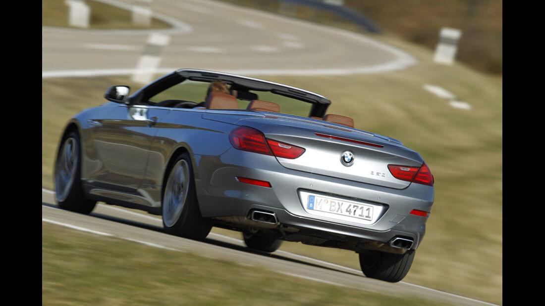BMW 650i Cabriolet, Rückansicht, Fahrt
