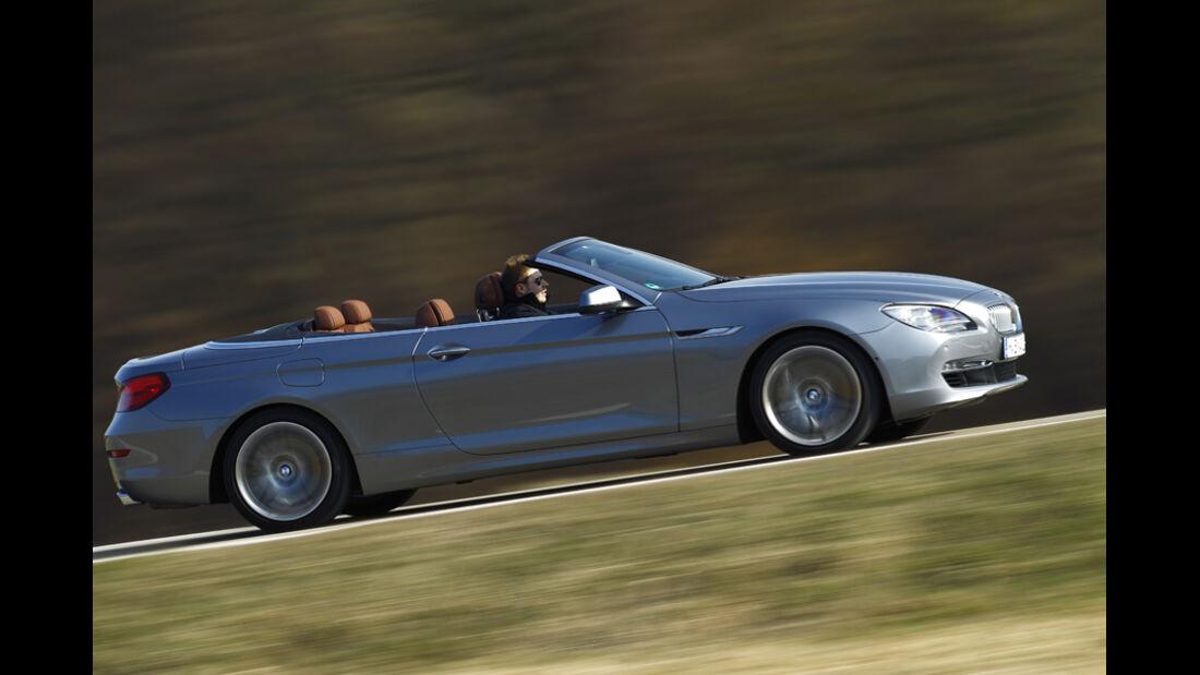 BMW 650i Cabriolet, Seitenansicht, Fahrt