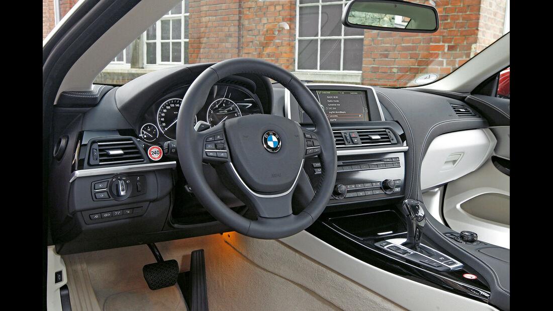 BMW 650i Coupé, Cockpit, Lenkrad