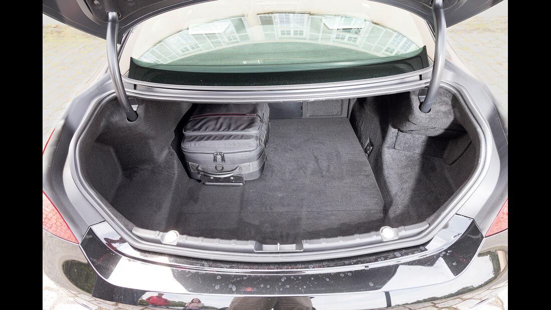 BMW 650i Coupé, Kofferraum