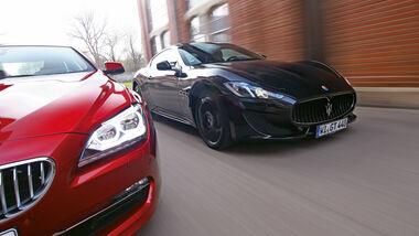 BMW 650i Coupé, Maserati GranTurismo Sport, Frontansicht