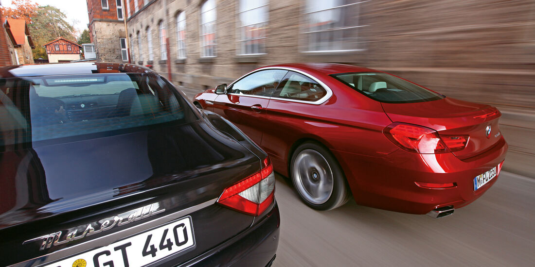 BMW 650i Coupé, Maserati GranTurismo Sport, Heck