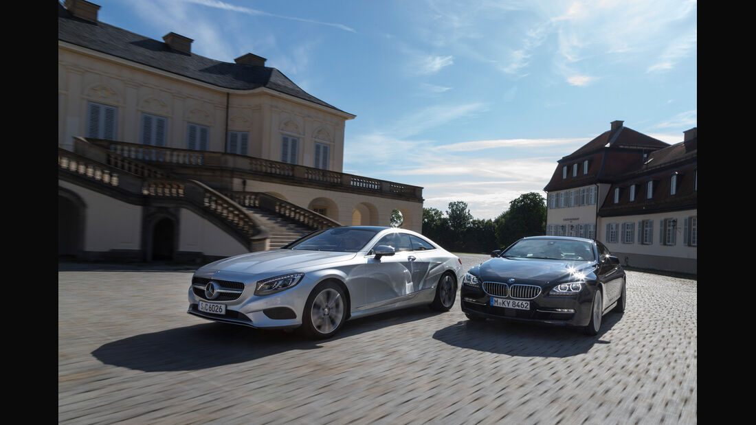BMW 650i Coupé, Mercedes S 500 4Matic Coupé, Frontansicht