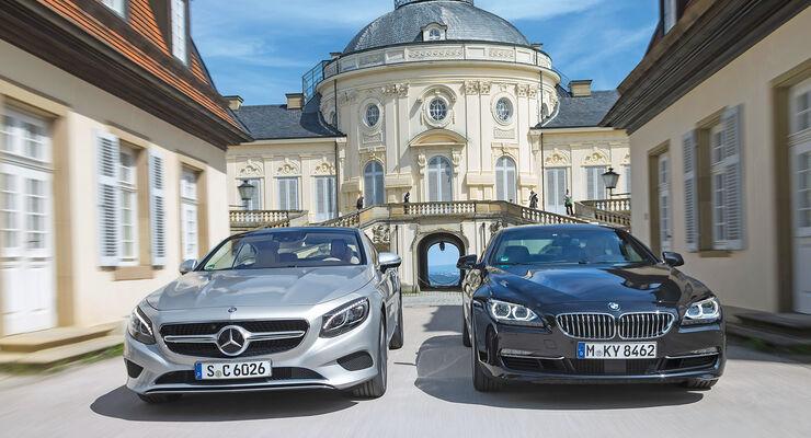 BMW 650i Coupé, Mercedes S 500 4Matic Coupé, Frontansicht
