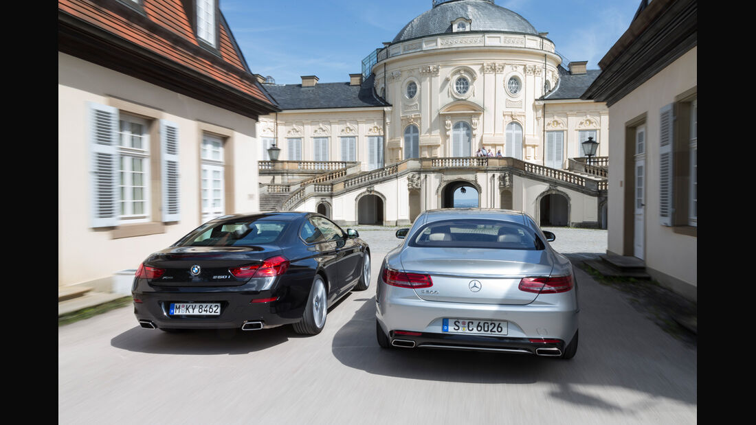 BMW 650i Coupé, Mercedes S 500 4Matic Coupé, Heckansicht