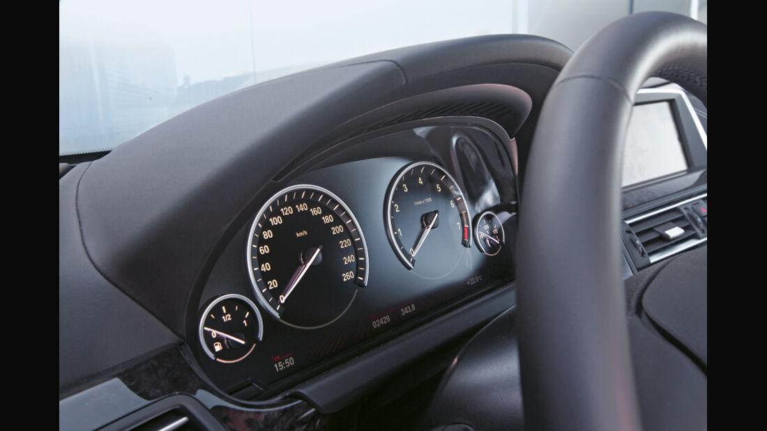 BMW 650i Coupé, Rundinstrumente, Tacho