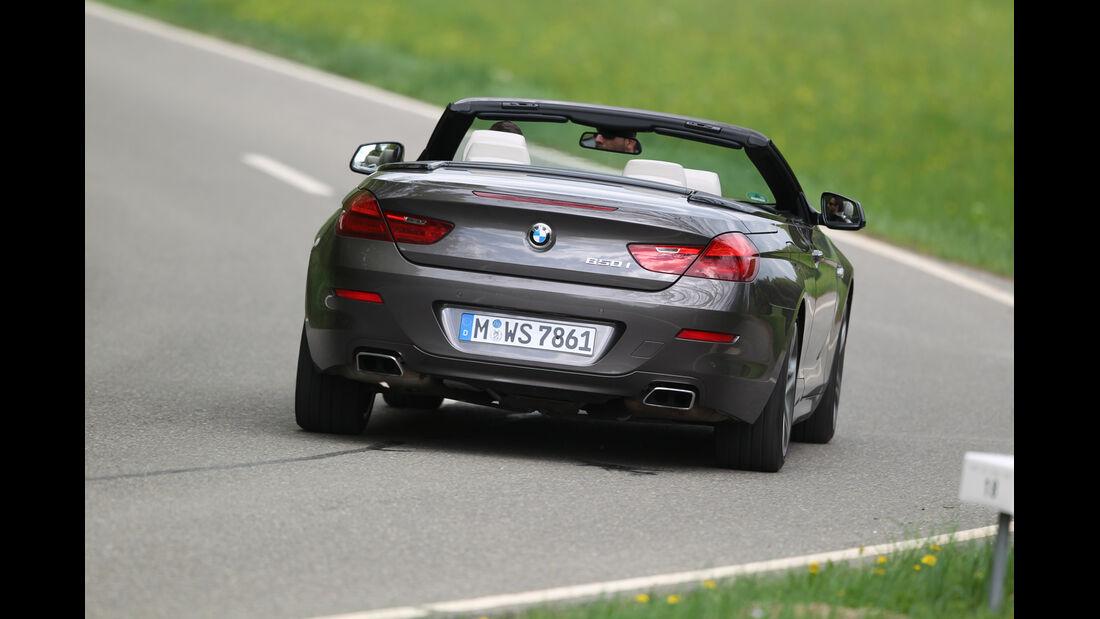 BMW 650i, Heck, Kurve