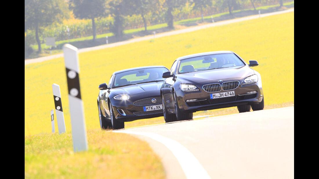 BMW 650i, Jaguar XK 5.0 V8 Portfolio, Front