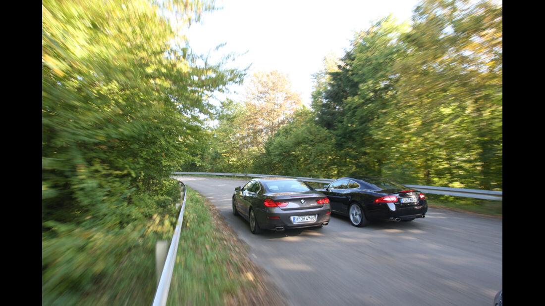 BMW 650i, Jaguar XK 5.0 V8 Portfolio, Heck