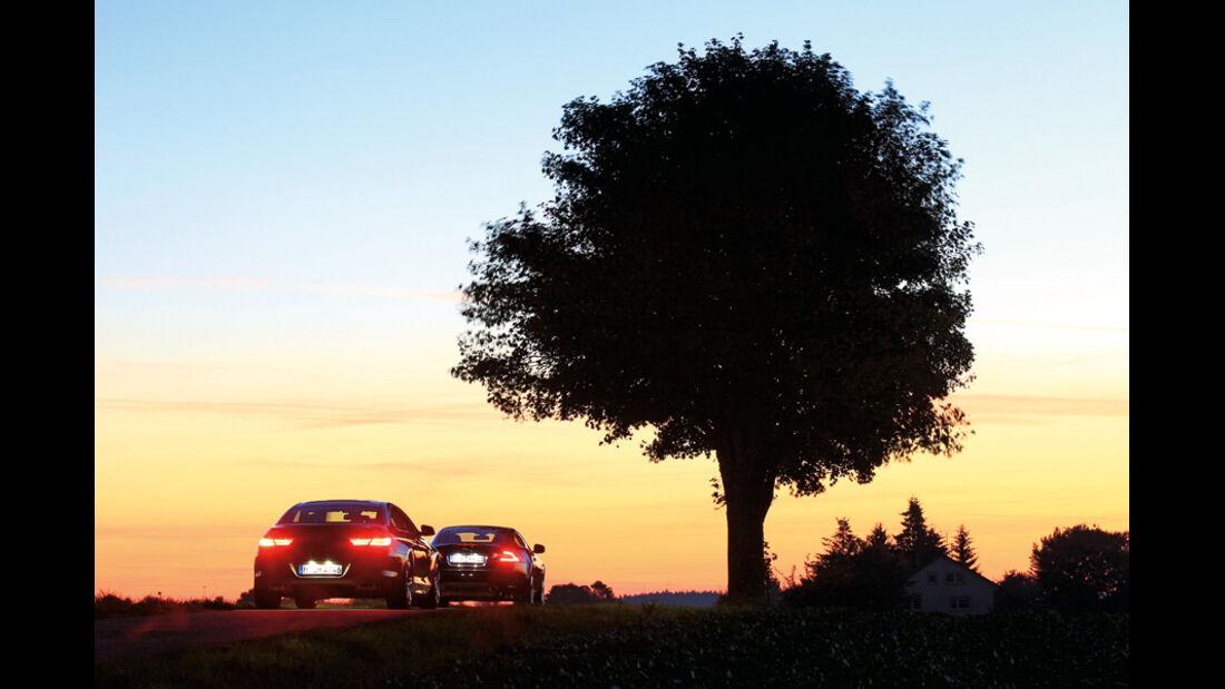 BMW 650i, Jaguar XK 5.0 V8 Portfolio, Rücklichter