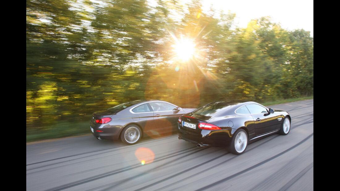BMW 650i, Jaguar XK 5.0 V8 Portfolio, Seitenansicht
