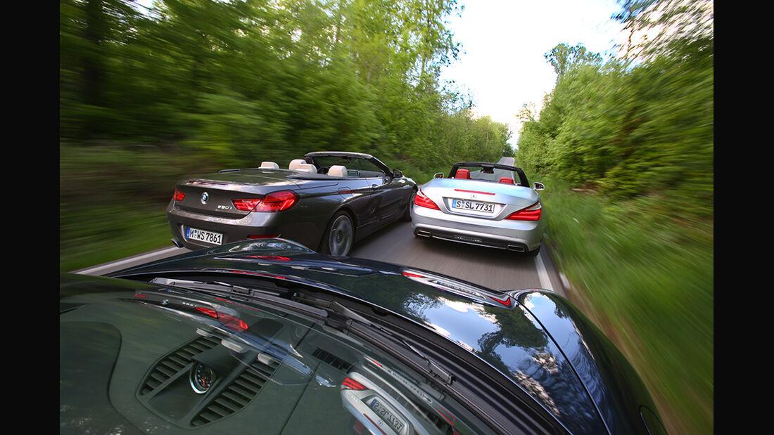 BMW 650i, Mercedes SL 500, Porsche 911 Carrera S