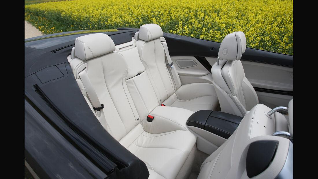BMW 650i, Rücksitze