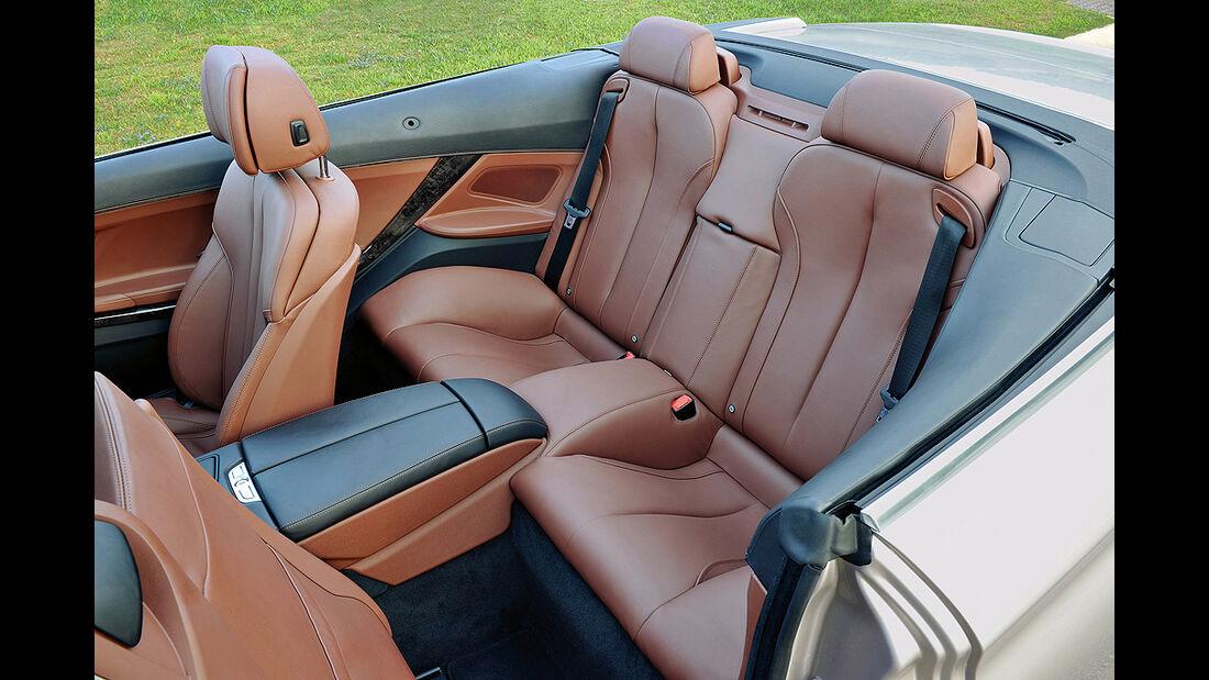 BMW 6er Cabrio, 2011, Rücksitze