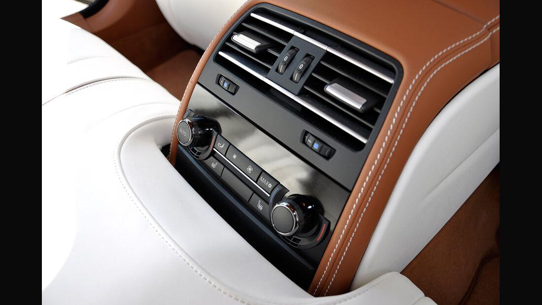 BMW 6er Gran Coupé, Innenraum-Check, Fond, Rückbank, Klimaanlage