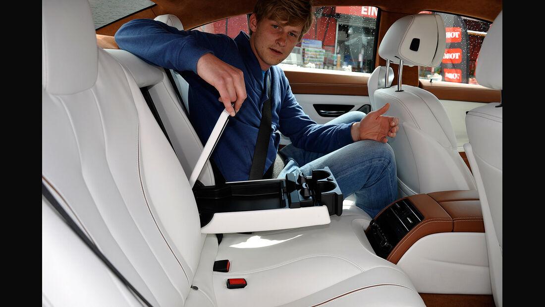 BMW 6er Gran Coupé, Innenraum-Check, Fond, Rückbank, Mittelarmlehne