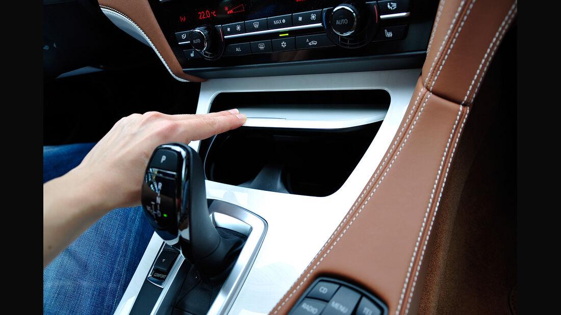 BMW 6er Gran Coupé, Innenraum-Check, Getränkehalter