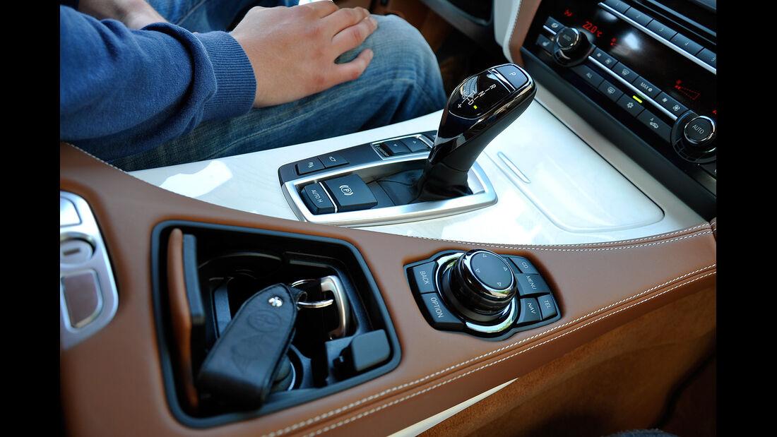 BMW 6er Gran Coupé, Innenraum-Check, Mittelkonsole, Schalthebel