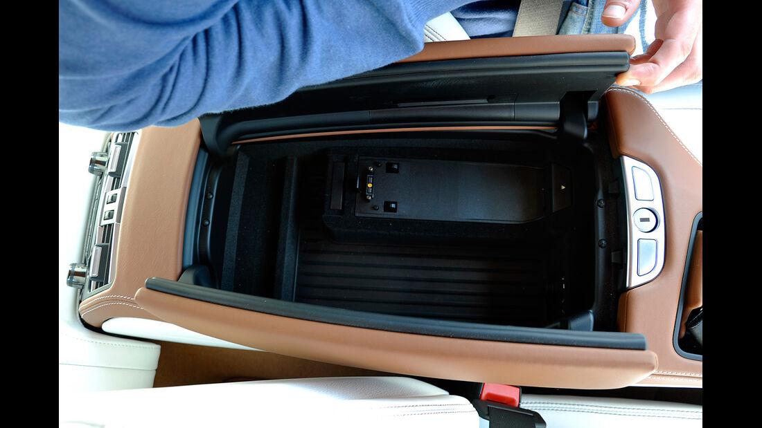 BMW 6er Gran Coupé, Innenraum-Check, Mittelkonsole, Staufach