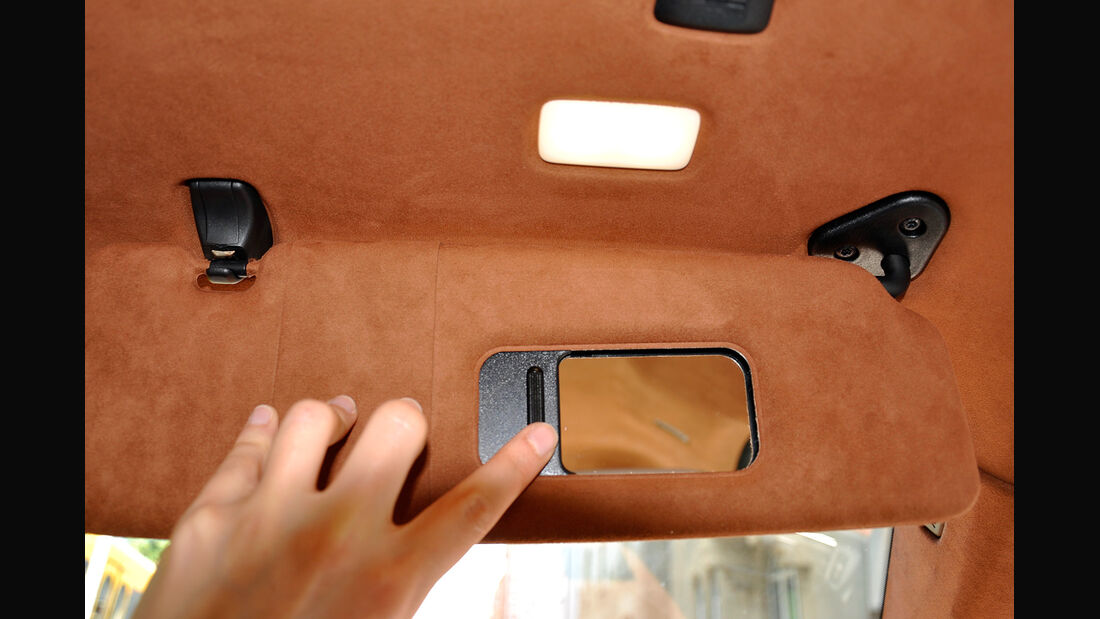 BMW 6er Gran Coupé, Innenraum-Check, Sonnenblende, Schminkspiegel
