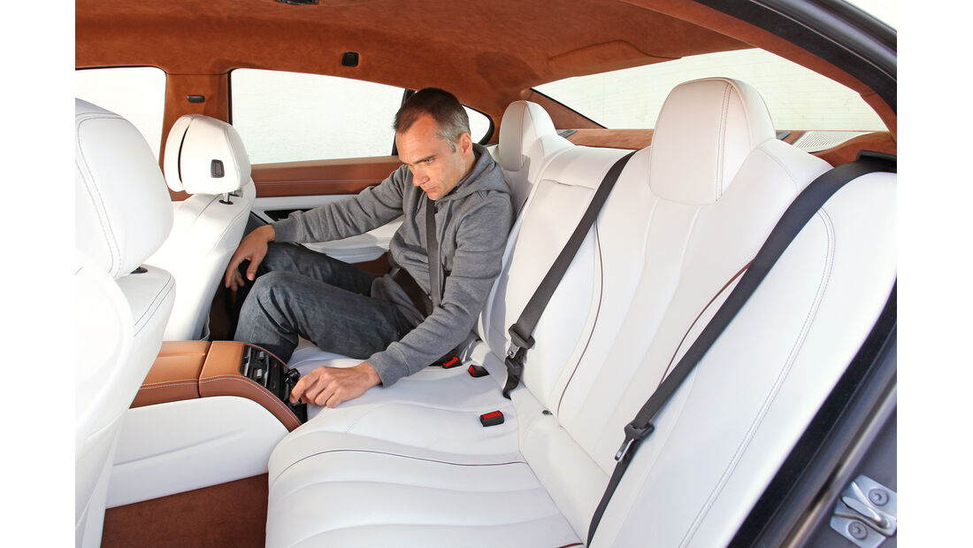 BMW 6er Gran Coupé, Rückbank, Beinfreiheit