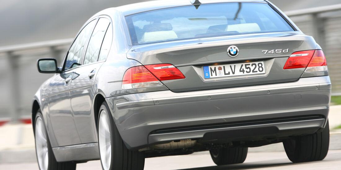 BMW 730d, Heckansicht