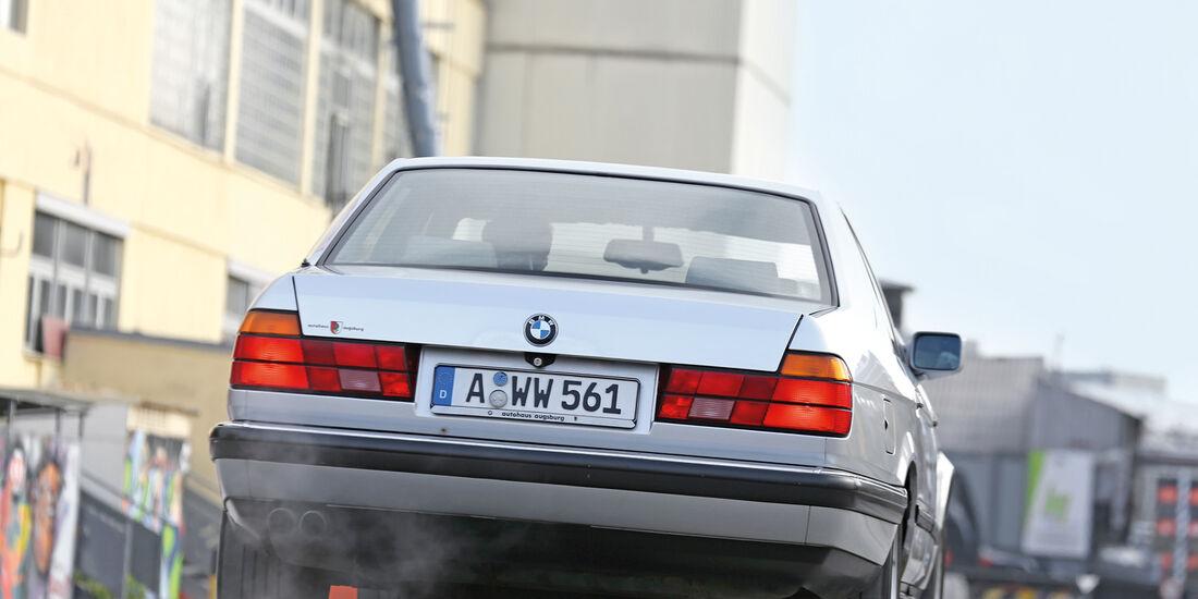 BMW 730i–750iL (E 32), V8/V12, Heckansicht