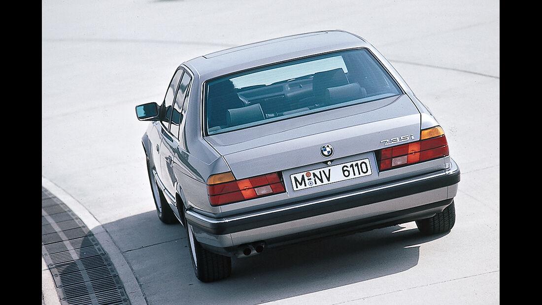 BMW 735i, Heckansicht