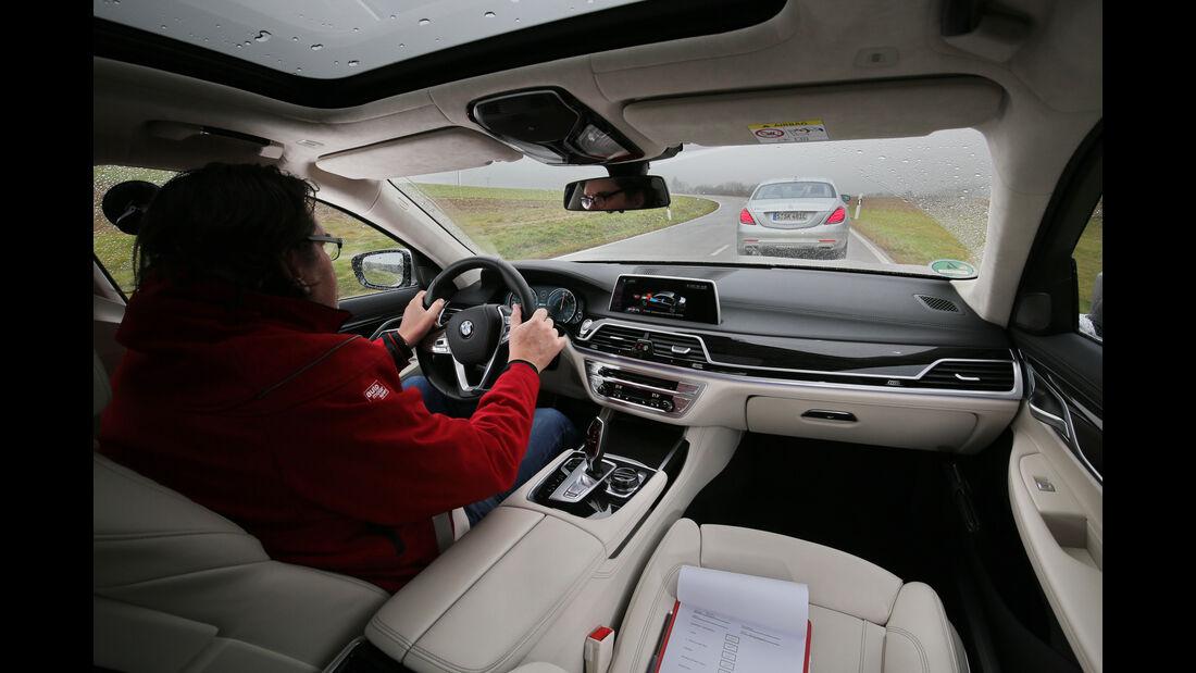 BMW 740Le iPerformance, Mercedes S 500 e, Ausfahrt