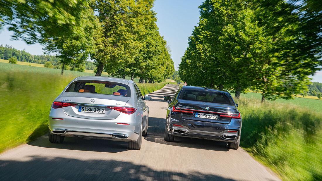 BMW 740d, Mercedes S 400 d