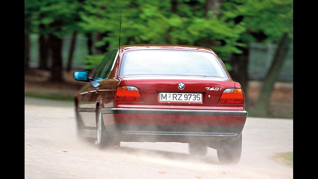 BMW 740i (E38), Heckansicht