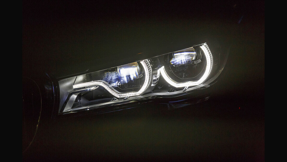 BMW 740i, Exterieur Front, Scheinwerfer