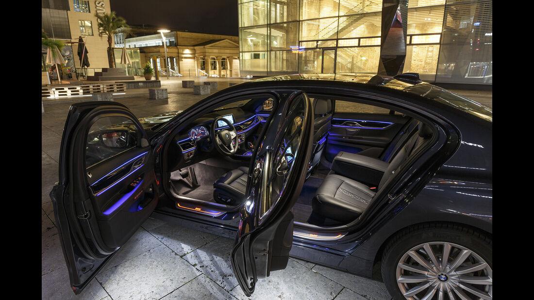 BMW 740i, Exterieur Seite, Interieur