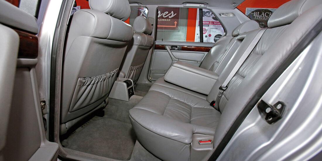 BMW 740i, Fondsitz, Beinfreiheit